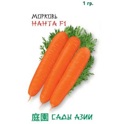 Семена моркови сорта Нантская F1, 1 грамм